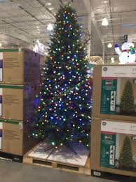 Ge 9 Ft Pre Lit Led Easy Light Technology Dual Color Christmas Tree In Costco