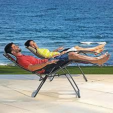 Folding Patio Chairs Amazon by Amazon Com Extra Wide Zero Gravity Lounger Folding Patio
