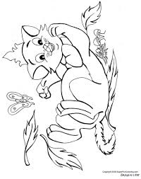 Coloring Pages Of Cats And Kittens