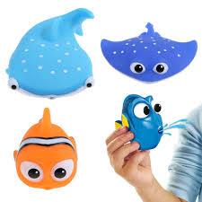 Finding Nemo Baby Bath Set by Squirter Nemo Kids Float Water Tub Baby Bath Rubber Toy Bathroom
