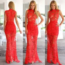 2015 women vintage hollow lace maxi dresses ladies european