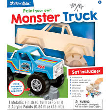 100 Everything Trucks Monster Truck Wood Paint Kit