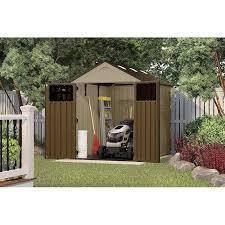 suncast storage shed 32 cubic feet resin horizontal storage shed