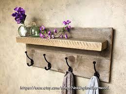 ENTRYWAY SHELF Mudroom Shelf Rustic Bathroom Decor Towel Rack Kitchen Home