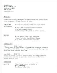 Culinary Resume Sample Chef Example Samples Pattern