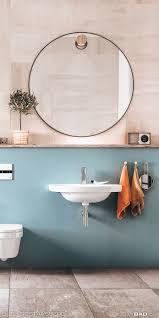 badezimmer verschönern mit rundem vintage spiegel skybad