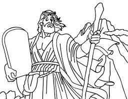 God Spoke With Moses Ten Commandments Coloring Page