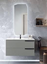 badezimmermöbel suspendiert basis 100 malibú modern mit 2 schubladen schwarze griffe mit waschbecken anthrazit
