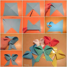 Step By Origami Paper Bows For Christmas Gifting