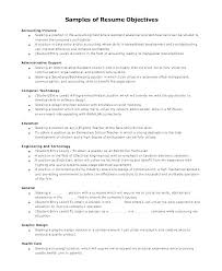 Entry Level Resume Objectives Sample Objective Example Accounting Great
