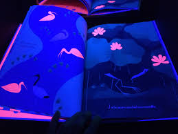 Glowing Books for the Black Light Booth Sturdy for mon Things