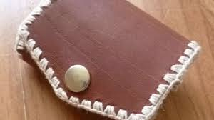 how to make a cute leather coin purse diy crafts tutorial