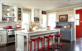 Cute Kitchen Decorating Themes Red Accents Simple