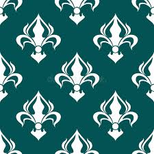 Download Seamless Fleur De Lis Royal White Pattern Stock Vector