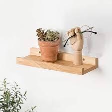 30cm bilderleiste eiche rustikales massives schweberegal wandregal hängeregal ideal für wohnzimmer schlafzimmer flur badezimmer büro