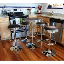 AmeriHome Vintage Style Soda Shop Adjustable Height Bar Table Set In ... Jofran Marin County Merlot 5piece Counter Height Table Mercury Row Mcgonigal 5 Piece Pub Set Reviews Wayfair Crown Mark Camelia Espresso And Stool Red Barrel Studio Jinie Amazoncom Luckyermore Ding Kitchen Giantex Pieces Wood 4 Stools Modern Inspiring And Chairs Target Tables For Dimeions Style Sets Design With Round Wooden Bar Best Choice Products W Glass Dinette Frasesdenquistacom Hartwell Peterborough Surplus Fniture No Clutter For The