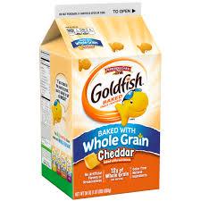 Pepperidge FarmR GoldfishR Whole Grain Cheddar Baked Snack Crackers 30 Oz Box