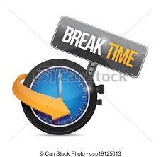 Break Time Watch Sign Illustration Design