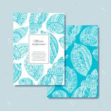 100 Sea Shell Design Hand Drawn S For Postcard Banner Card Vector
