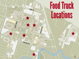 Starved For Some Good News? New Food Truck Site Now Serving Campus ... Delivery Goods Flat Icons For Ecommerce With Truck Map And Routes Staa Stops Near Me Trucker Path Infinum Parking Europe 3d Illustration Of Truck Tracking With Sallite Over Map Route City Mansfield Texas Pennsylvania 851 Wikipedia Road 41 Festival 2628 July 2019 Hill Farm Routes 2040 By Us Dot Usa Freight Cartography How Much Do Drivers Make Salary State Map Food Trucks Stock Vector Illustration Dessert