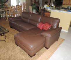 Macy s Italsofa Two Piece Chocolate Leather Sectional Sofa WE SHIP