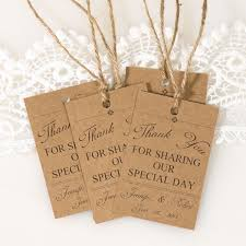 Country Rustic Wedding Ideas Thank You Tags