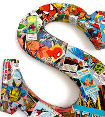 Vintage Superhero Wall Decor by Comic Book Craft Diy Superhero Canvas Budget Decorating Comic