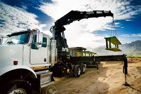 100 Truck Mounted Cranes Crane Trench Shoring Equipment Stock Photo Picture