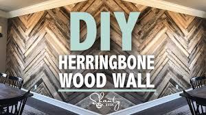 DIY Barn Wood Herringbone Wall GIVEAWAY