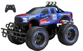 100 Ford Raptor Truck New Bright 110 Radio Control 96v Blue Walmartcom
