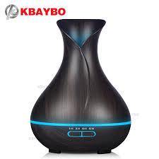 humidificateur de chambre 400 ml huile essentielle diffuseur bois foncé grain ultrasons arôme