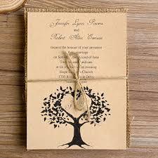 Love Tree Burlap Layered Rustic Wedding Invites EWLS013 As Low 219