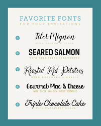 Five Font Pairings For Your Wedding Menu