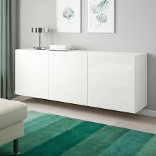 bestå schrankkombination für wandmontage weiß selsviken hochglanz weiß 180x42x64 cm