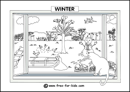 Autumn Colouring Page Thumbnail Image Winter