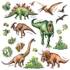 decowall ds 8034 aquarell dinosaurier wandtattoo wandsticker wandaufkleber wanddeko für wohnzimmer schlafzimmer kinderzimmer klein englisch
