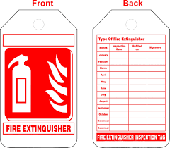 Free Fire Extinguisher Inspection Tags Template Kamos Sticker