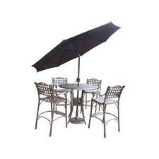5 Piece Bar Height Patio Dining Set by Aluminum Bar Height Dining Sets Outdoor Bar Furniture The