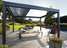 pergola bioclimatique retractable pergoklim de soliso meubles