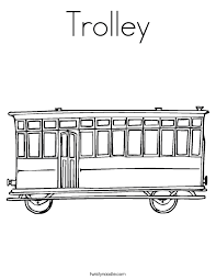Trolley Coloring Page