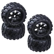 100 Off Road Truck Tires 4 Pieces 150mm Rubber RC 18 Monster Bigfoot Wheel