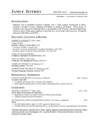 Objectives For Resumes High School Students College Resume Template Sample Graduates