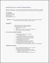 Resume Profile Examples For Students Fresh Objective In Graduate