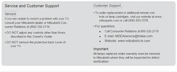 my mitsubishi wd 65c9 projection tv red light stays on after fixya
