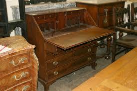 Drop Front Secretary Desk by 18th Century American Cherry Slant Front Desk