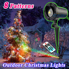 Outdoor Star Elf Light Laser Shower Projector Motion 8 Christmas Theme Pattern Holiday Decorative Lights Red Green With Remote In Stage Lighting Effect From