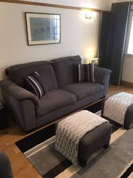 ikea tidafors 3 seater sofa hensta grey with ekenas chair and 2