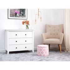 sitzhocker rosa weiß baumwolle stoff 30 cm modern rund trendy praktisch stauraum wohnzimmer
