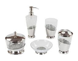 Mercury Glass Bathroom Accessories by Pretty Clear Glass Bathroom Accessories Appealing Designer And Set