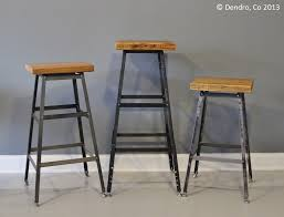Reclaimed Urban Wood Industrial Bar Stool Or Chair By DendroCo 14000